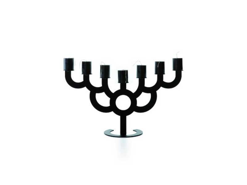 Steel candlestick MENORAH BOLD - Moooi©