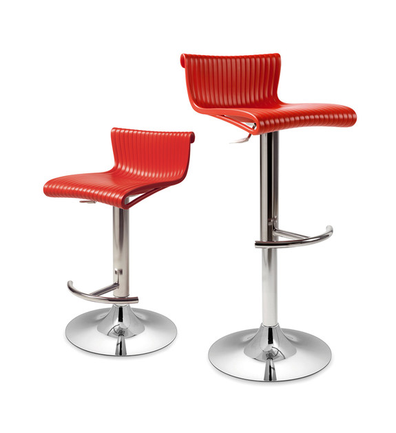 Contemporary style swivel height-adjustable barstool CONTE - Nardi