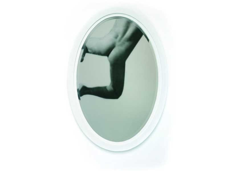 Framed oval mirror PAPER MIRROR by moooi