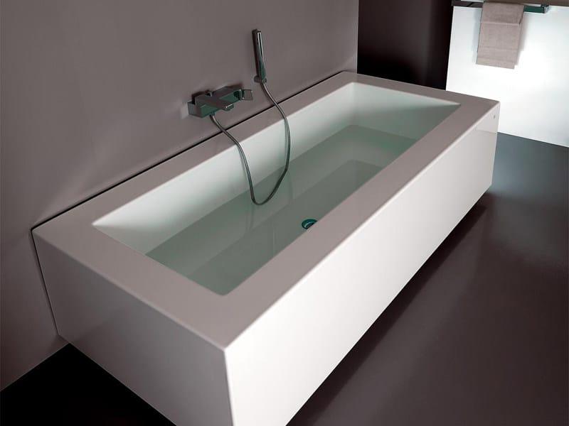 Vasca da bagno rettangolare grande kos by zucchetti - Vasca da bagno grande ...