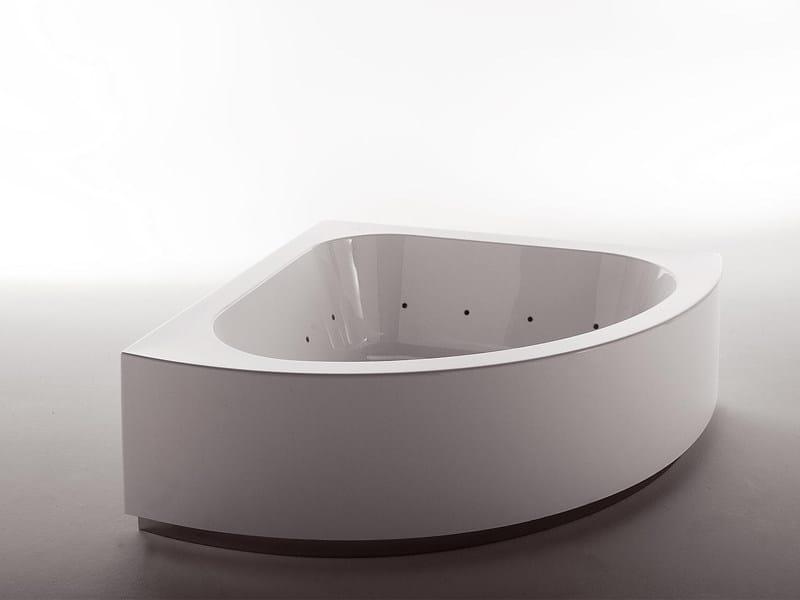 Corner bathtub GRANDE ANGOLO - Kos by Zucchetti