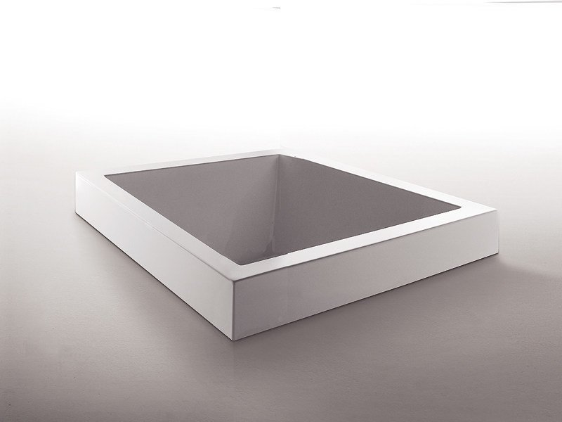 Built-in square methacrylate bathtub GRANDE QUADRA by Kos by Zucchetti