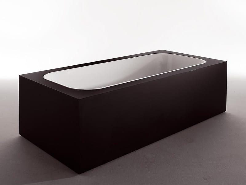 Rectangular methacrylate bathtub GEO GLASS - Kos by Zucchetti