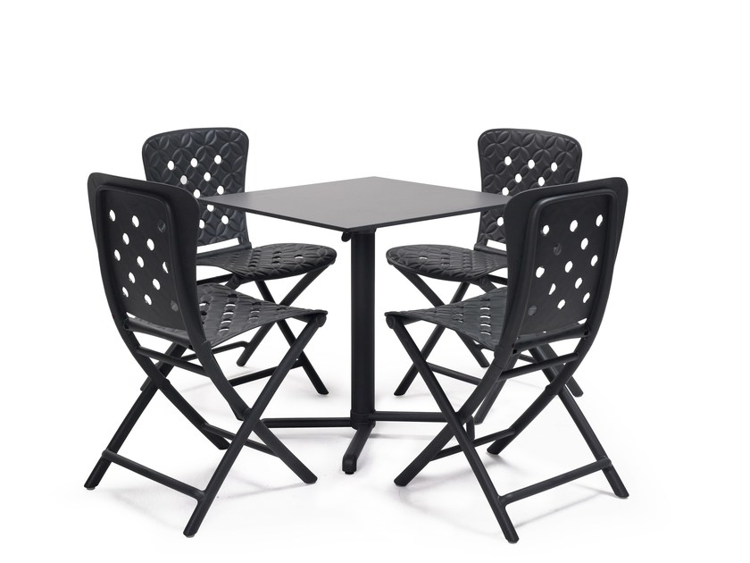 Contemporary style drop-leaf stackable contract table SCUDO by Nardi