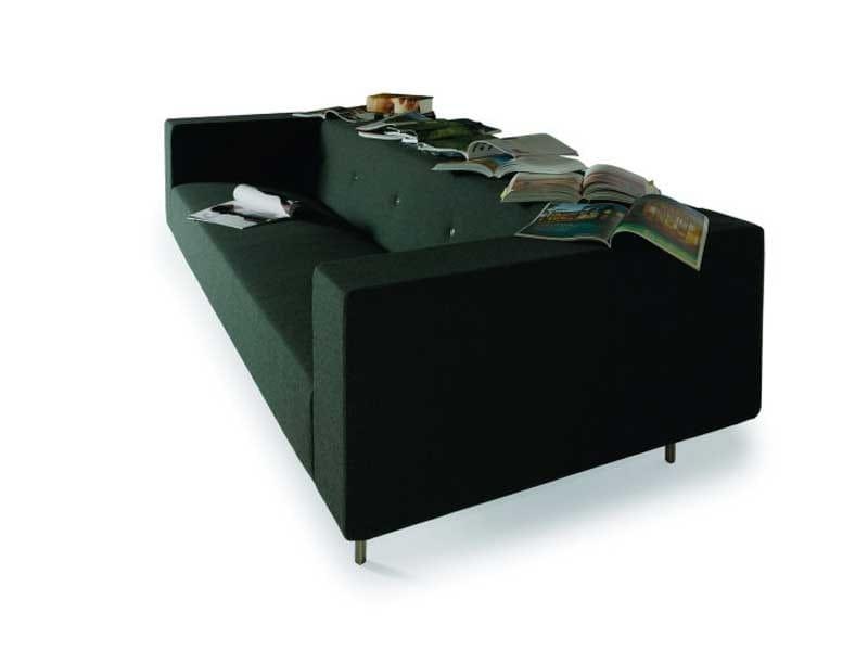 Sofa with integrated magazine rack BOTTONI SHELF - Moooi©