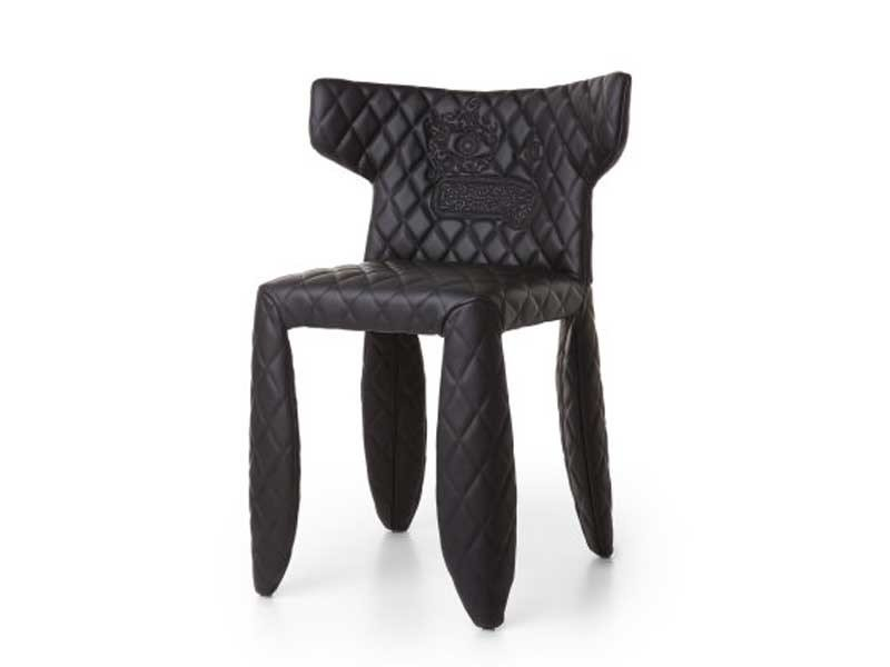 Upholstered imitation leather chair MONSTER CHAIR - Moooi©