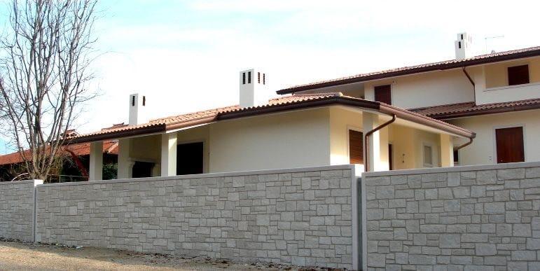 Dolomite bianco, stucco grigio