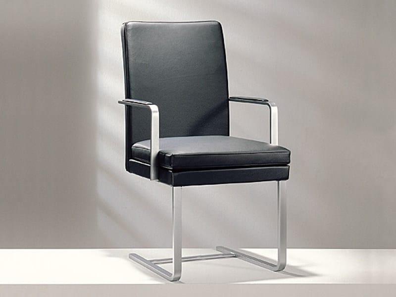 Cantilever high-back leather chair D13-42 | High-back chair - Hülsta-Werke Hüls