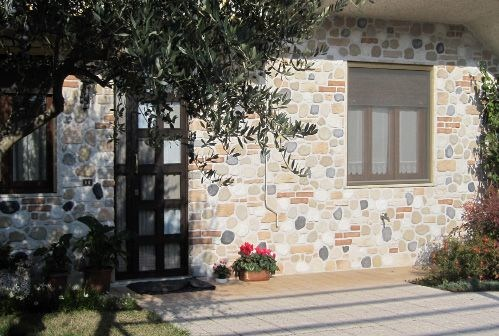Ecological reconstructed stone wall tiles SASSO RUSTICO by ITALPIETRA