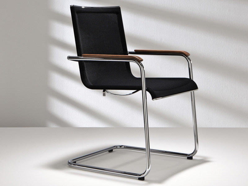 Cantilever mesh chair with armrests D18 PLUS | Chair with armrests - Hülsta-Werke Hüls