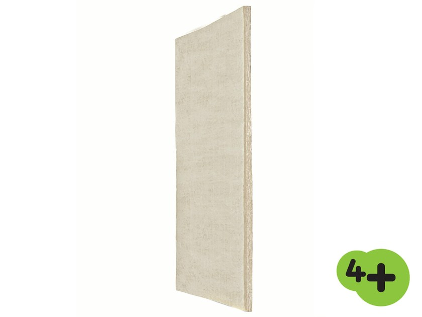 Glass wool Thermal insulation panel / Sound insulation and sound absorbing panel in mineral fibre EXTRAWALL VV 4+ - Saint-Gobain PPC Italia S.p.a. – Attività ISOVER