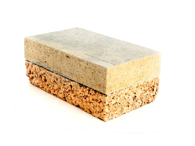 Natural insulating felt and panel for sustainable building BetonCork® - BetonWood