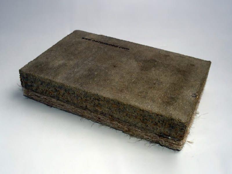 Natural insulating felt and panel for sustainable building BetonKenaf® - BetonWood