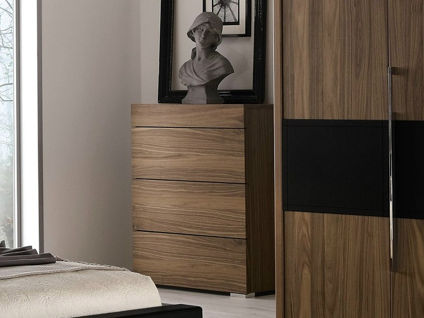 elumo ii cassettiera in noce by h lsta werke h ls. Black Bedroom Furniture Sets. Home Design Ideas
