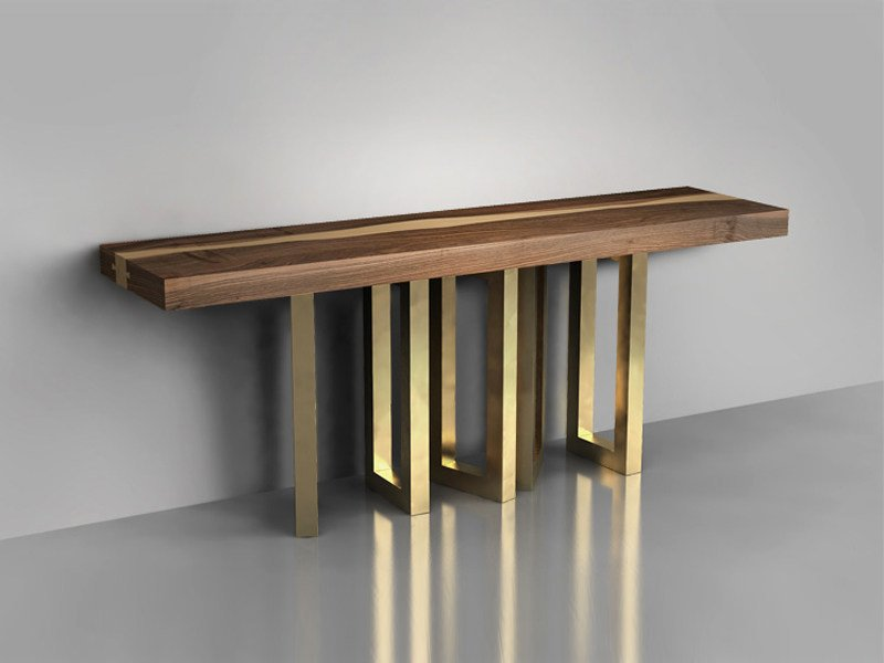 SOLID WOOD CONSOLE TABLE IL PEZZO 6 COLLECTION BY IL PEZZO ...