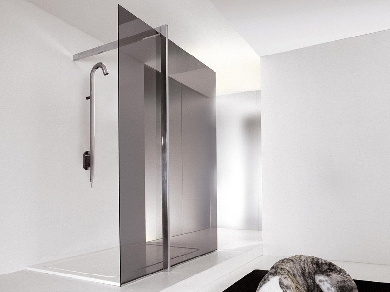 Stainless Steel Shower system FLOOR 2 - Kos by Zucchetti