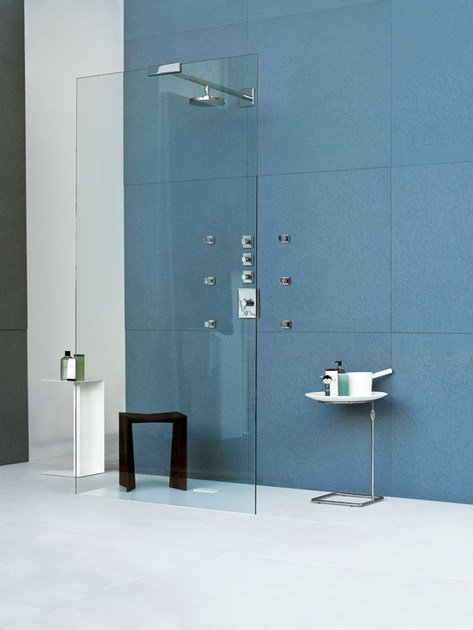 Stainless Steel Shower system FARAWAY 1 | Shower wall panel - Kos by Zucchetti