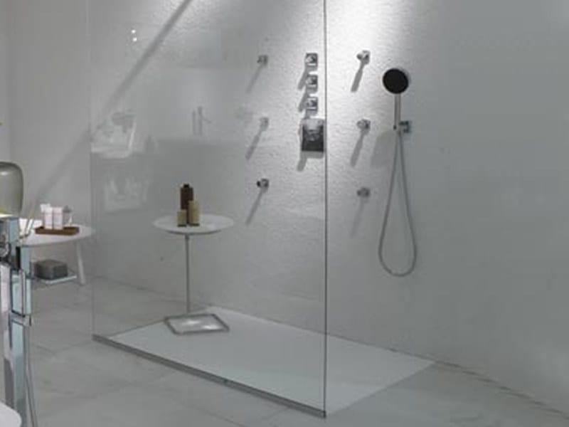 Rectangular Cristalplant® shower tray FARAWAY 2   Shower tray - Kos by Zucchetti