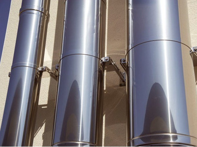 Stainless steel flue THERMINOX by Ala Poujoulat
