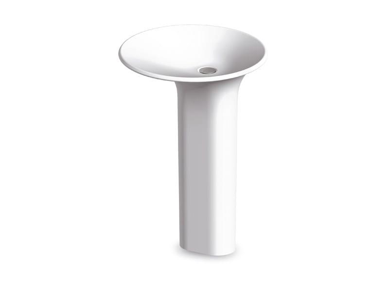Freestanding Cristalplant® washbasin FARAWAY ROUND - Kos by Zucchetti