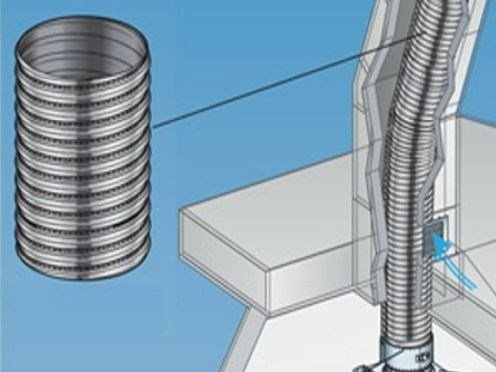 Stainless steel flue FLESSIBILI PER CAMINI - ALA - Distributore POUJOULAT