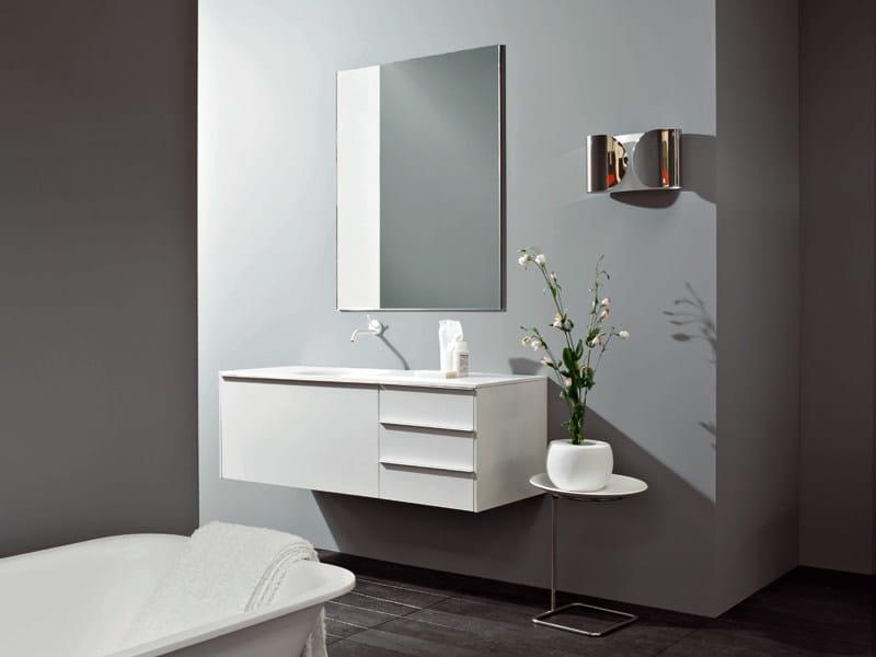 Wall-mounted vanity unit MORPHING UNIT 130 - Kos by Zucchetti