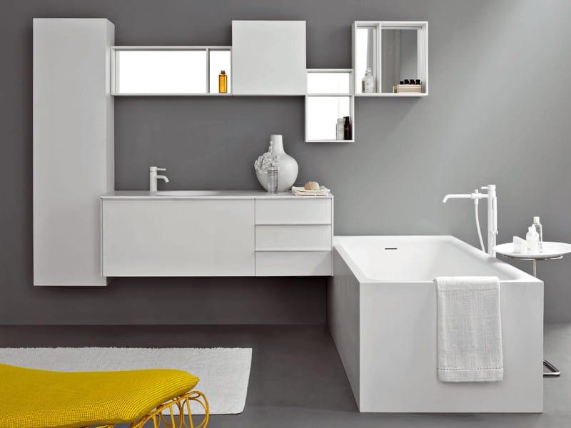... lavabo sospeso con cassetti MORPHING UNIT 180 - Kos by Zucchetti