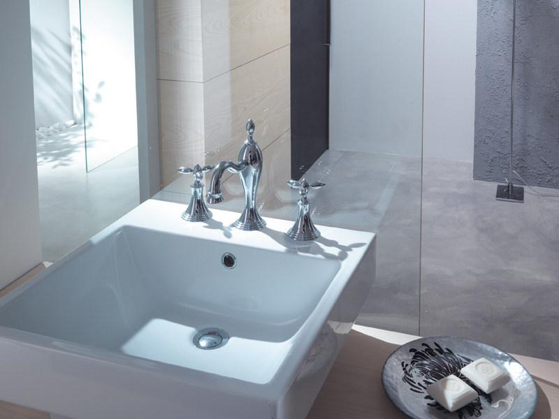 Classic style 3 hole washbasin mixer TIMOR | Washbasin tap - Gattoni Rubinetteria