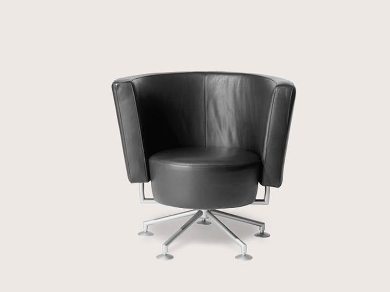 Swivel armchair CIRCO | Armchair by COR