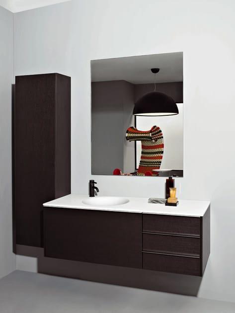 Mobile bagno a colonna sospeso morphing mobile bagno a for Kos arredo bagno