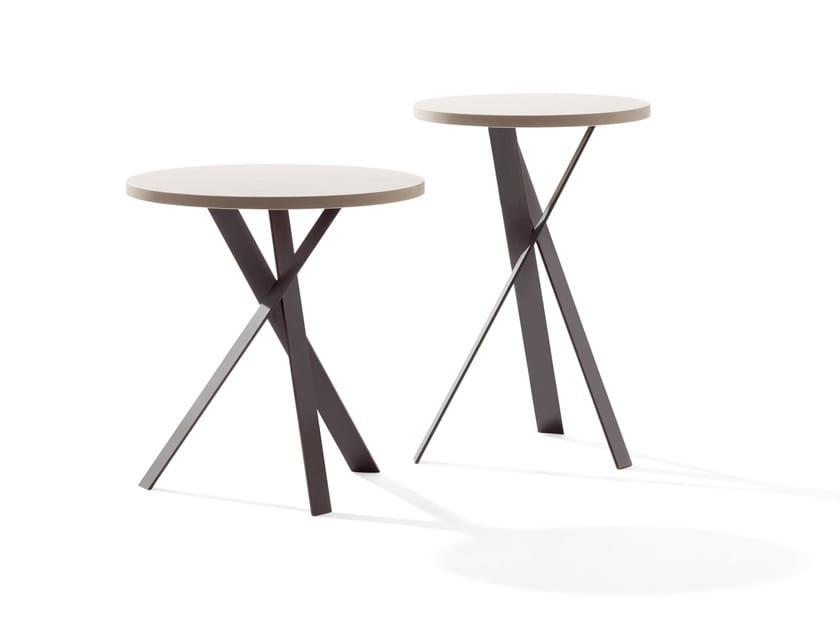 Round stone coffee table MORTIMER - Draenert