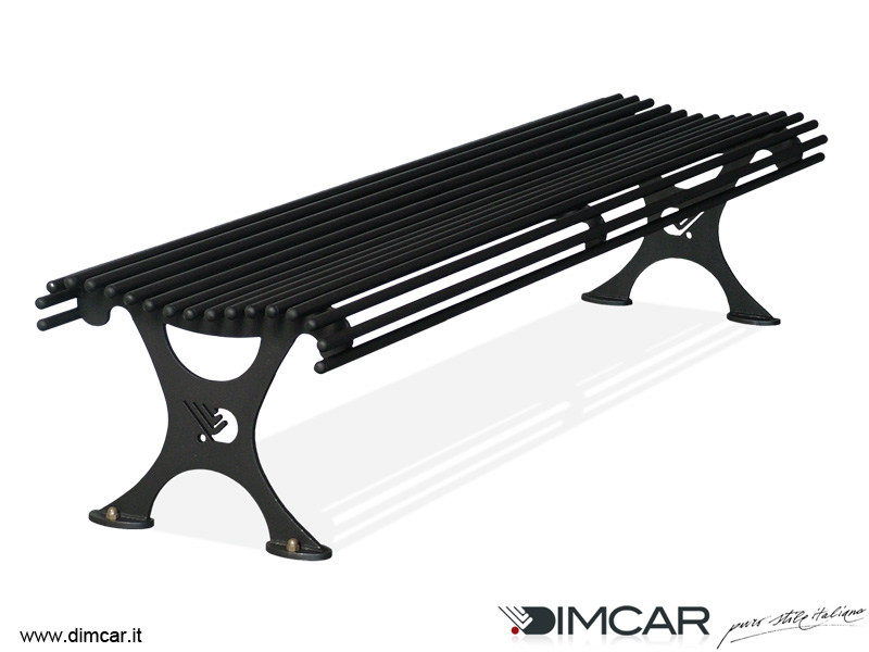 Classic style backless metal Bench Panca Antibes by DIMCAR