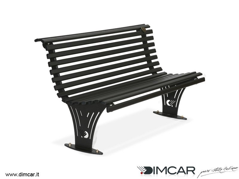 Contemporary style metal Bench with back Panchina Ariete - DIMCAR