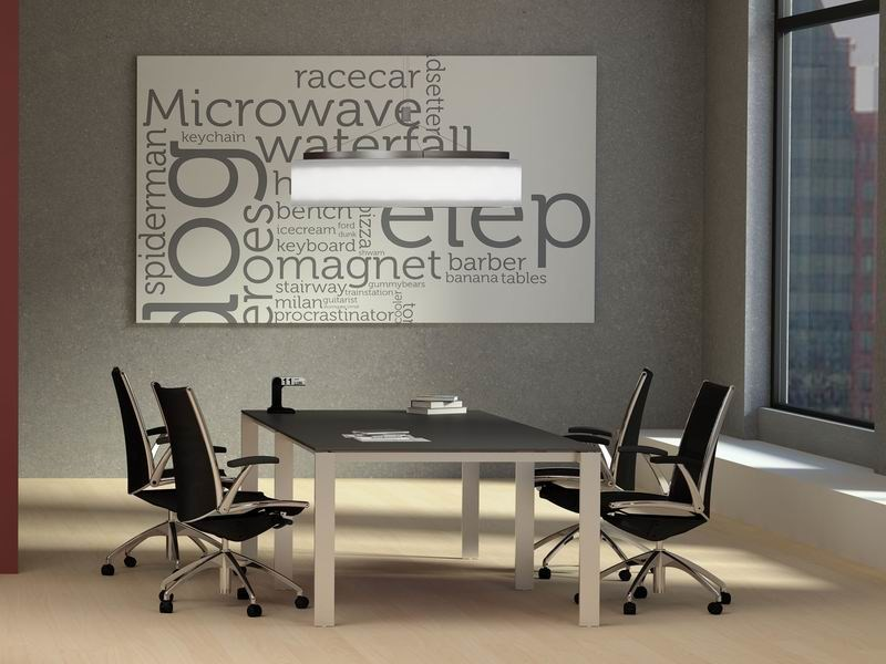 Rectangular steel and wood meeting table MINIMAX | Steel and wood meeting table - MASCAGNI