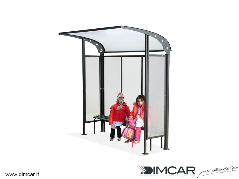 Metal porch for bus stop Pensilina Scuolabus - DIMCAR