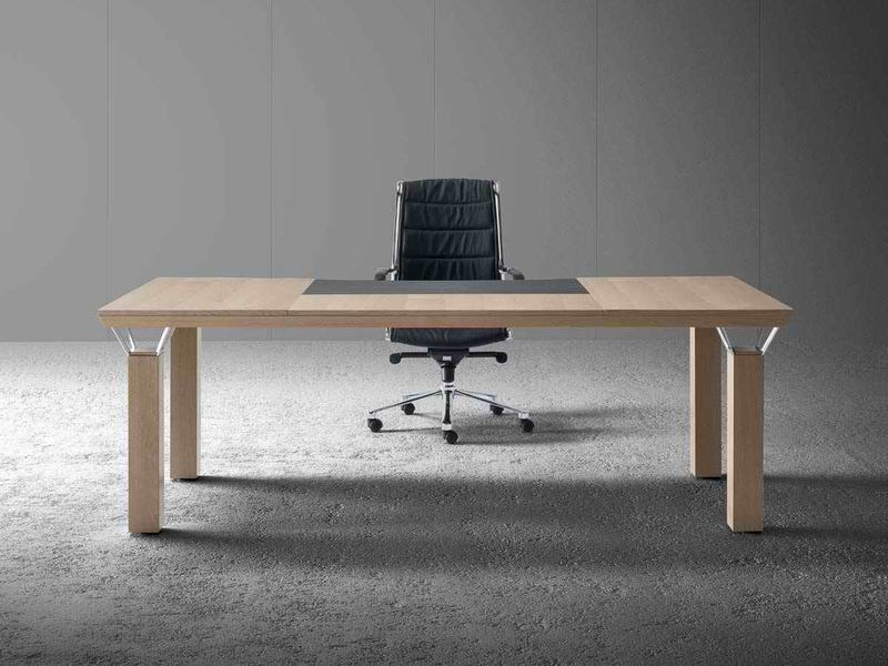 Rectangular wooden executive desk QUADRA | Rectangular office desk - MASCAGNI