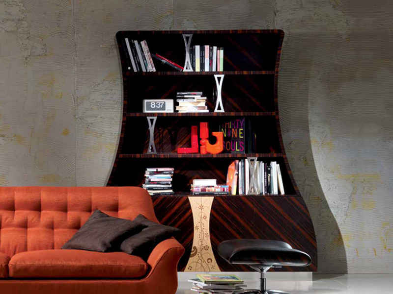 Open wooden bookcase CARTESIO | Bookcase by Carpanelli Contemporary