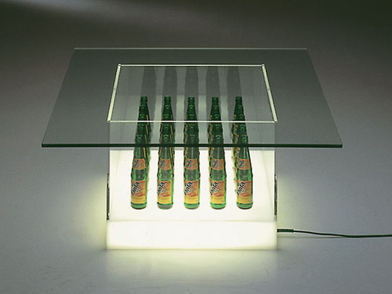 Glass coffee table with light FANTAS - TISCH - Draenert