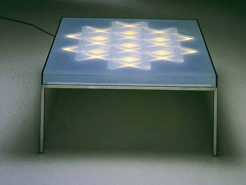 Coffee table with light OP - TISCH - Draenert