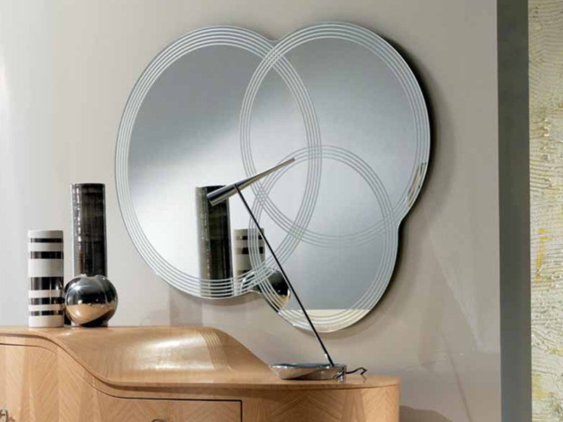 Wall-mounted round mirror IRIDE | Wall-mounted mirror - Carpanelli Contemporary