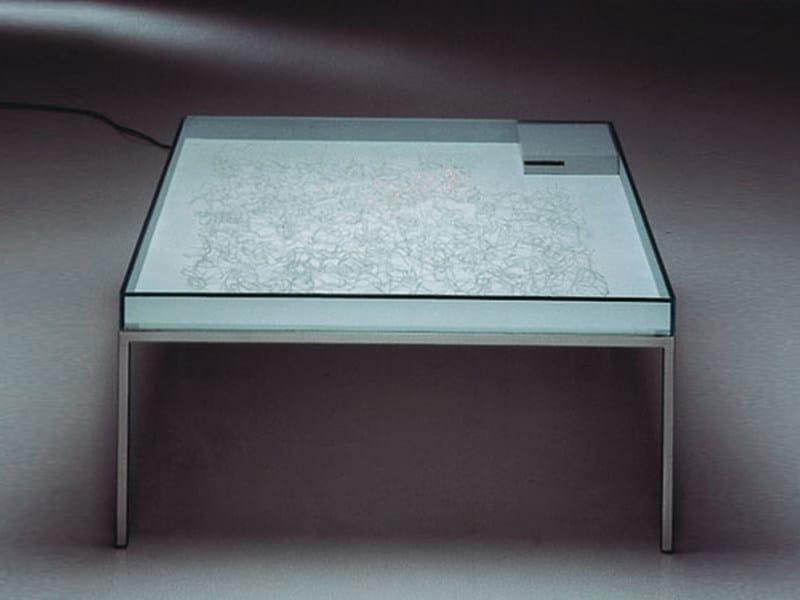 Glass coffee table with light FUTURIS - TISCH - Draenert