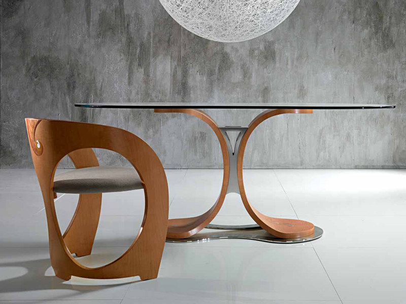 Oval wooden dining table MISTRAL | Table - Carpanelli Contemporary