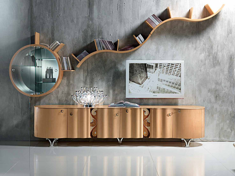 Wooden sideboard with doors with drawers MISTRAL | Sideboard by Carpanelli Contemporary