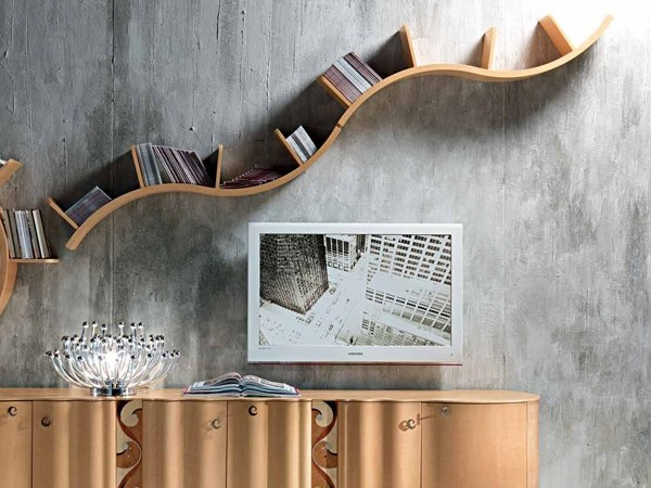 Wooden wall shelf Wall shelf - Carpanelli Contemporary