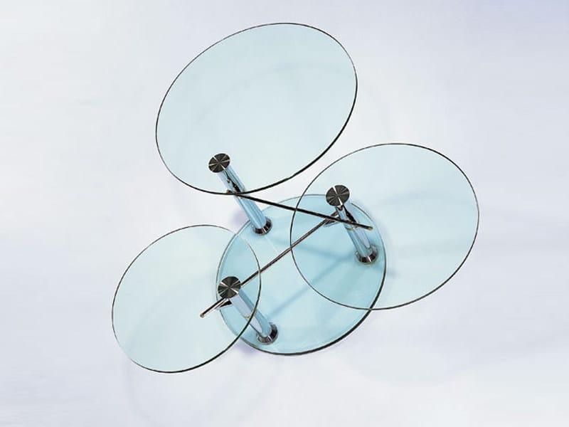 Swivel glass coffee table INTERMEZZO - Draenert
