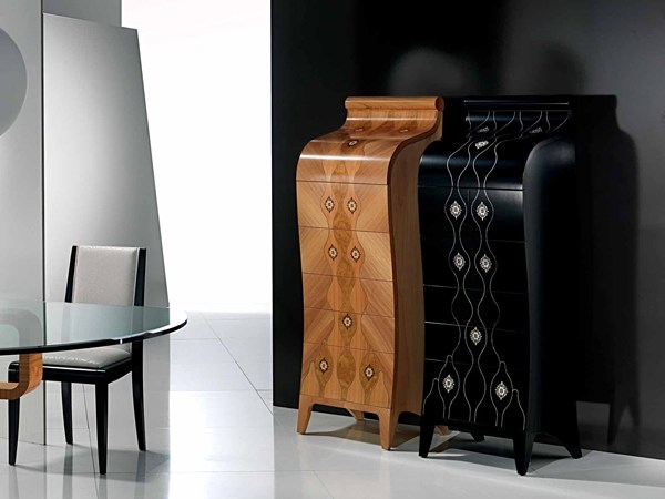 Walnut chest of drawers SILHOUETTE - Carpanelli Contemporary