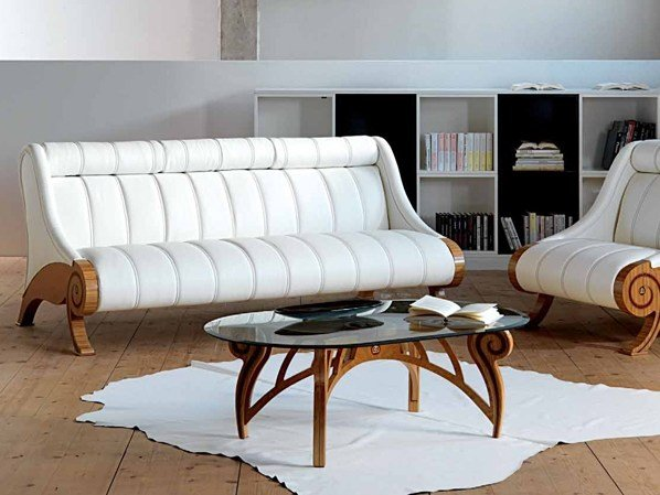 LOW OVAL COFFEE TABLE FOR LIVING ROOM LE SPIRALI BY CARPANELLI