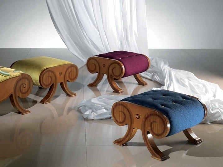 Leather footstool GLAMOUR | Footstool - Carpanelli Classic