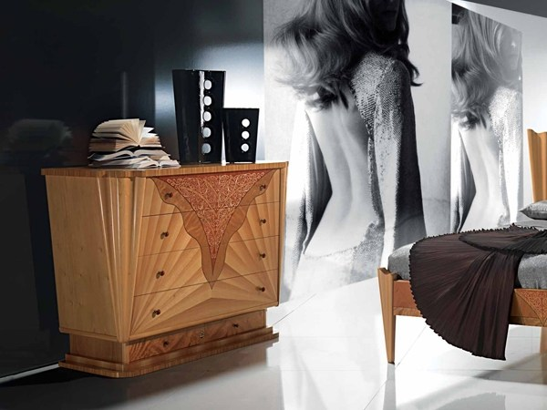Wooden chest of drawers CONTEMPORARY VISION | Chest of drawers by Carpanelli Contemporary