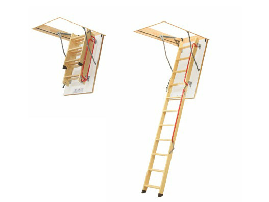 Wooden loft ladder LWL LUX - FAKRO